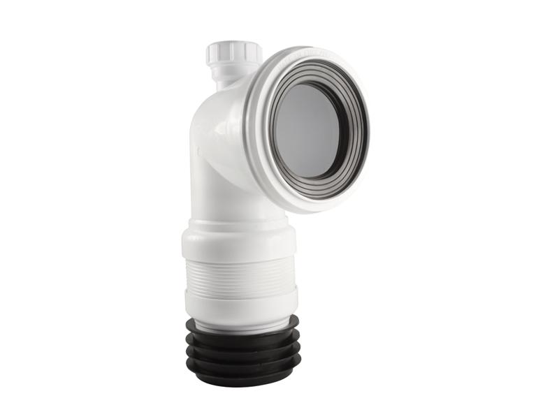 Space Saving 90° with Flexible End - Short Adjustable Euroflo Flexible Pan Connector