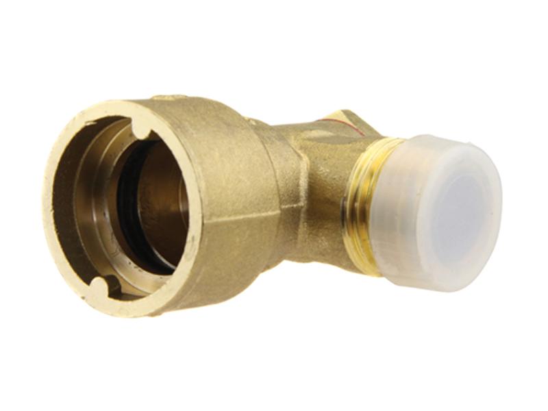 """1/2"""" BSP Angle Bayonet Plug-In Gas Socket"""