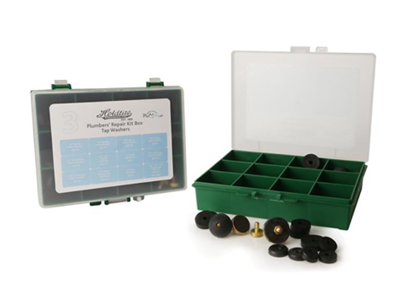 No.3 Tap Washers Plumbers Repair Kit Box