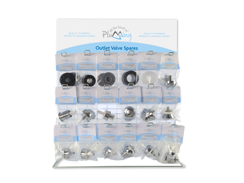 Outlet Valve Spares Counter Top Display Stand
