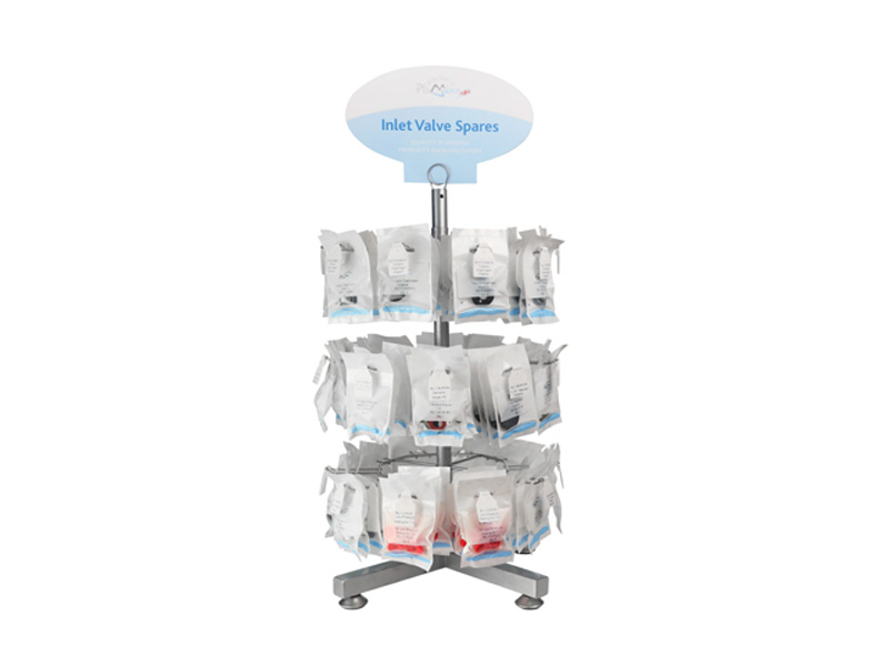 Inlet Valve Spares Carousel Counter-Top Display Stand